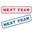 Next Year Rubber Stamps vector image vector image