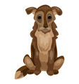 old dog icon cartoon style vector image vector image