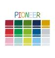Pioneer Color Tone vector image vector image