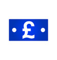 pound bill icon vector image