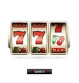 Realistic slot machine isolated vector image