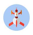 rocket flat icon rocket icon a vector image vector image