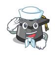 sailor graduation hat character cartoon vector image vector image