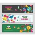 School flat banners vector image