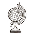 school globe isolated coloring book for adults vector image vector image