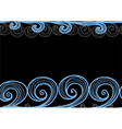 seamless background hand-drawn sea waves vector image