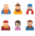 set different male faces vector image vector image