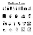 set medical drug related icons contains vector image