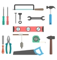 set of tools on white background vector image vector image