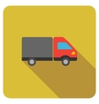 Shipment Flat Rounded Square Icon with Long Shadow vector image