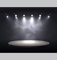 smoky spotlights realistic composition vector image vector image
