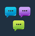 speech bubble icon isolated on background vector image vector image