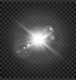star burst transparent glow light effect vector image
