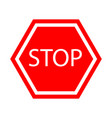 stop sign icon vector image vector image