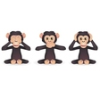 three wise monkey vector image