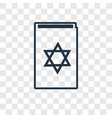 torah book concept linear icon isolated on vector image
