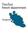 Vaucluse french department map vector image vector image