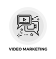 Video Marketing Line Icon vector image vector image