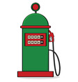 vintage gas pump vector image vector image