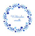 Watercolor wreath vector image vector image