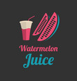 watermelon juice banner or menu vector image vector image