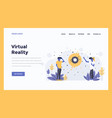 web design flat modern concept - virtual reality vector image