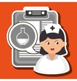 woman medical service icon vector image vector image
