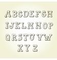 Hand drawn font retro alphabet vintage style vector image