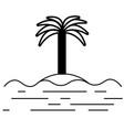 island icon vector image