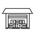 warehouse line icon sign vector image