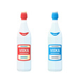 colored flat red and blue label couple vodka vector image