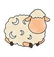 cute sheep character icon vector image