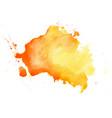 abstract yellow watercolor hand drawn texture vector image vector image