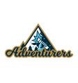 adventure logo mountain landscape forest hand vector image vector image