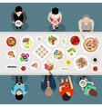 Banquet Catering Party Top View vector image vector image