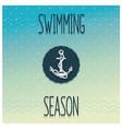 Beginning swimming season vector image