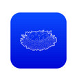 bird nest with eggs icon blue vector image vector image
