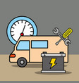 car service maintenance vector image
