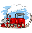 cartoon locomotive or engine character vector image vector image