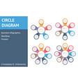 circle diagrams vector image vector image