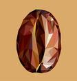 Coffee bean polygon style vector image vector image