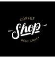 Coffee Shop handwritten lettering logo badge or vector image vector image