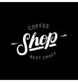 coffee shop handwritten lettering logo badge vector image