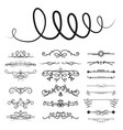 collection of dividers calligraphic style vector image vector image