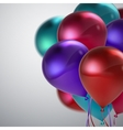 colorful balloon bunch vector image vector image