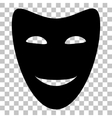 Comedy theatrical masks Flat style black icon on vector image vector image