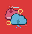 computing cloud icon set of great flat icons use vector image vector image