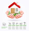 construction services conceptual vector image