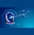 cybershield vector image