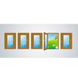 doors gray vector image vector image